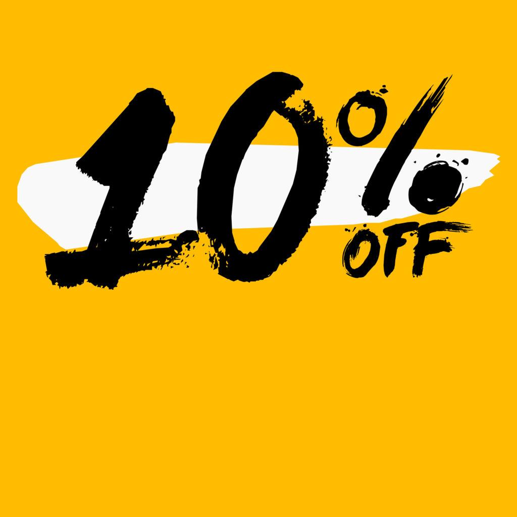 News  10 Off -10 % auf alles im Shop